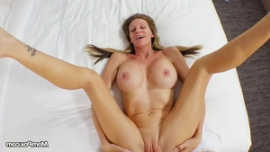Cum on face together with stunning stepmom