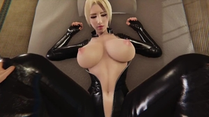 Big boobs wearing latex pussy eating 3d