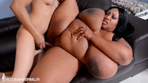 Loud sex together with huge boobs ebony babe
