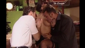 Threesome in the bar