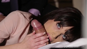 Threesome along with hottest stepmom Ava Courcelles