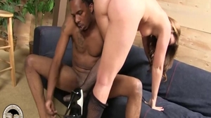 Brunette Maddy O'Reilly anal interracial scene