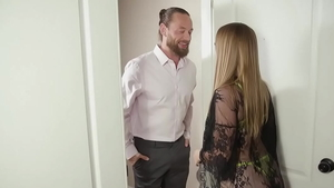 American blonde haired Laney Grey demonstrates natural boobs