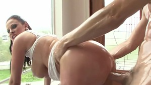 Rough sex escorted by big tits stepmom Gianna Michaels
