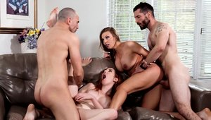 Amber Sex as well as Britney Amber hard orgy