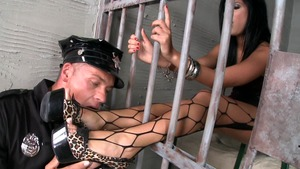 Hardcore sex together with Madison Parker in jail