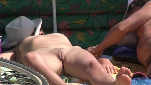 Big ass mature really likes reality sex at the beach