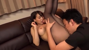 Pussy eating asian wearing tights