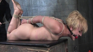 Fetish hogtied in the company of babe